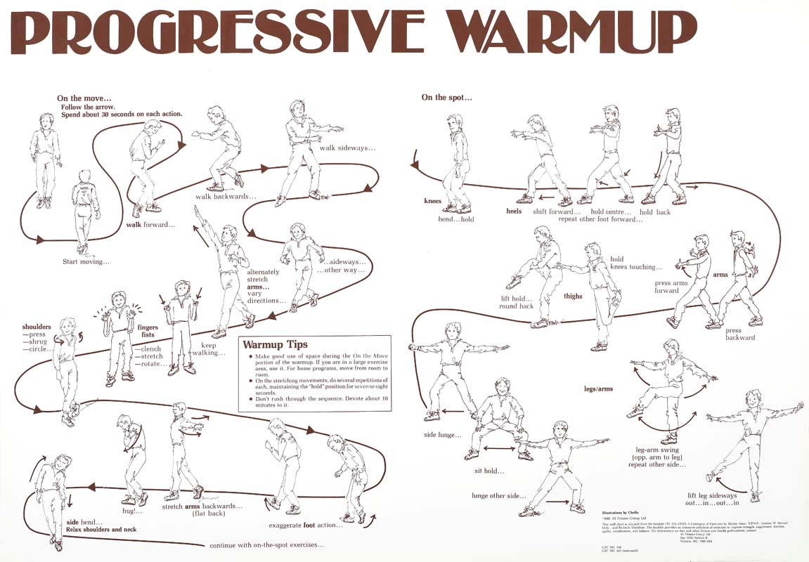 Progressive Warm-up Chart